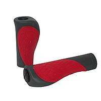 Грипсы XLC GR-S18 'Comfort bo', красно-серые, 135/92мм