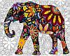 """Раскраска по номерам """"Цветочный слон"""""""