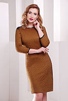 Горчичное  женское  платье Molly  FashionUp 42-48  размеры