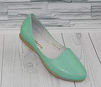 Балетки. Открытые туфли. Натуральная кожа 0755, фото 1
