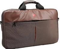"""Практичная сумка для ноутбука 2E-CBN616BR 16"""" коричневая"""