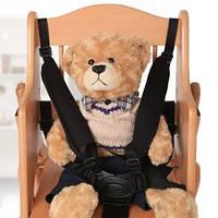 Ремни безопасности для коляски, детского стульчика с мягкими накладками на плечи Черный (05029)