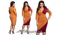 Платье женское с V образным вырезом турецкая замша размеры 50-56