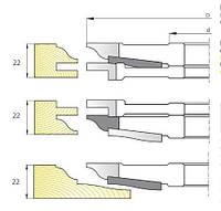 Фрезы для изготовления  мебельной обвязки с филёнкой  М-081
