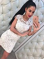 Белое платье женское с кружева