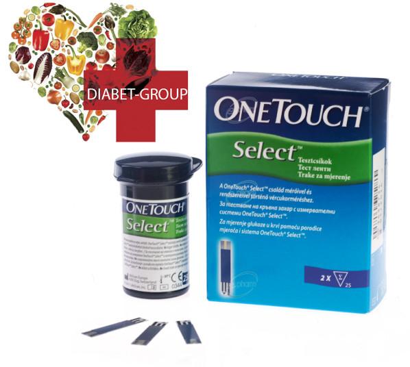 Тест полоски One Touch Select (Ван Тач Селект) №50