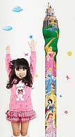 Интерьерная наклейка на стену ростомер Дисней Принцессы (ay7091)