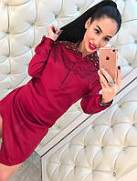 Женская туника с аппликацией из бисера