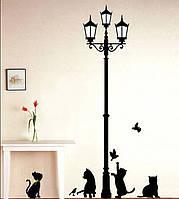 Интерьерная наклейка на стену Коты (dm57-0100)