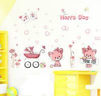 Детская Интерьерная наклейка Милые Котики (XL7097)