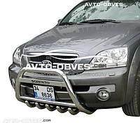 Защита переднего бампера для Kia Sorento 2003-2009