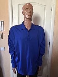 Футболка-поло мужская синяя, черная длинный рукав большие Casa Moda