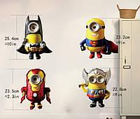 Интерьерная наклейка на стену Миньоны Супергерои (AL3901)
