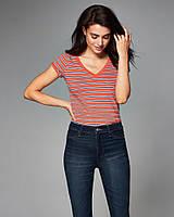 Оранжевая футболка в полоску Abercrombie & Fitch, фото 1