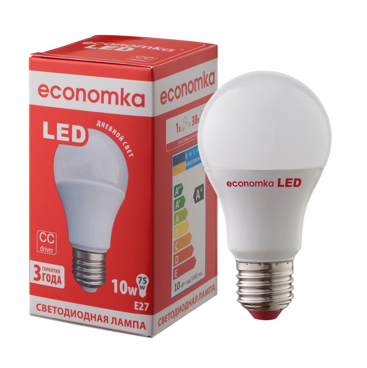 Светодиодная лампа Economka LED А60 10W Е27 4200К
