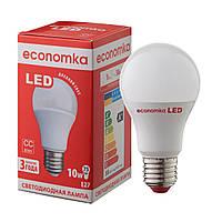 Светодиодная лампа Economka А60 LED 10W Е27 с СС-драйвером , 4200К