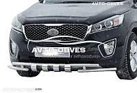 Защита бампера модельная Kia Sorento Prime 2015-… 42*42мм