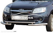 Захист переднього бампера Lada Granta