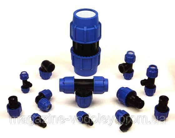 Фітинг затискний Santehplast для зовнішнього водопроводу