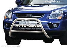 Защитный обвес переднего бампера для Киа Спортейдж 2005-2009