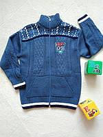 Детский свитер теплый на змейке