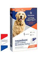 """Паладіум Нашийник противопараз. """"Ultra Protect"""" д/вел.собак 70см (синій)"""