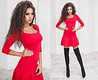 Платье красное женсое короткое