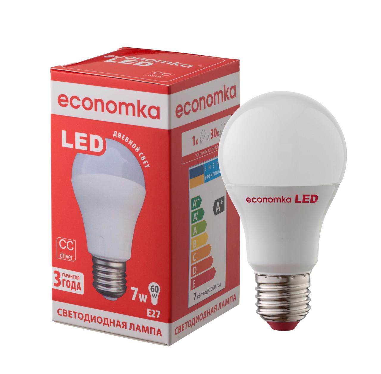 Светодиодная лампа Economka LED 7W Е27-4200K