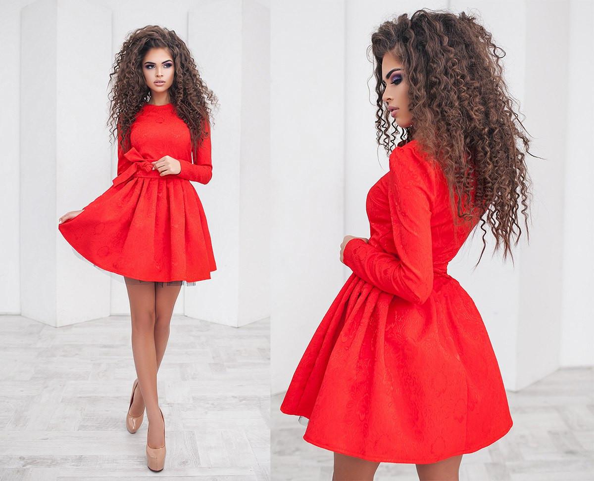 891908de6c1 Платье красное пышное вечернее