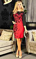 Стильное платье с цветами