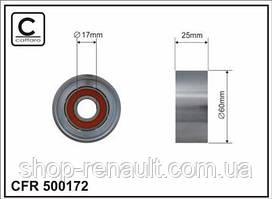 Ролик натяжителя ремня (металл) генератора ГУР + кондиционер Caffaro 500172