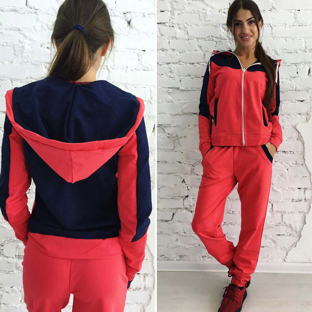 Спортивный костюм женский Леон коралл , спортивная одежда  продажа ... d6b456df061