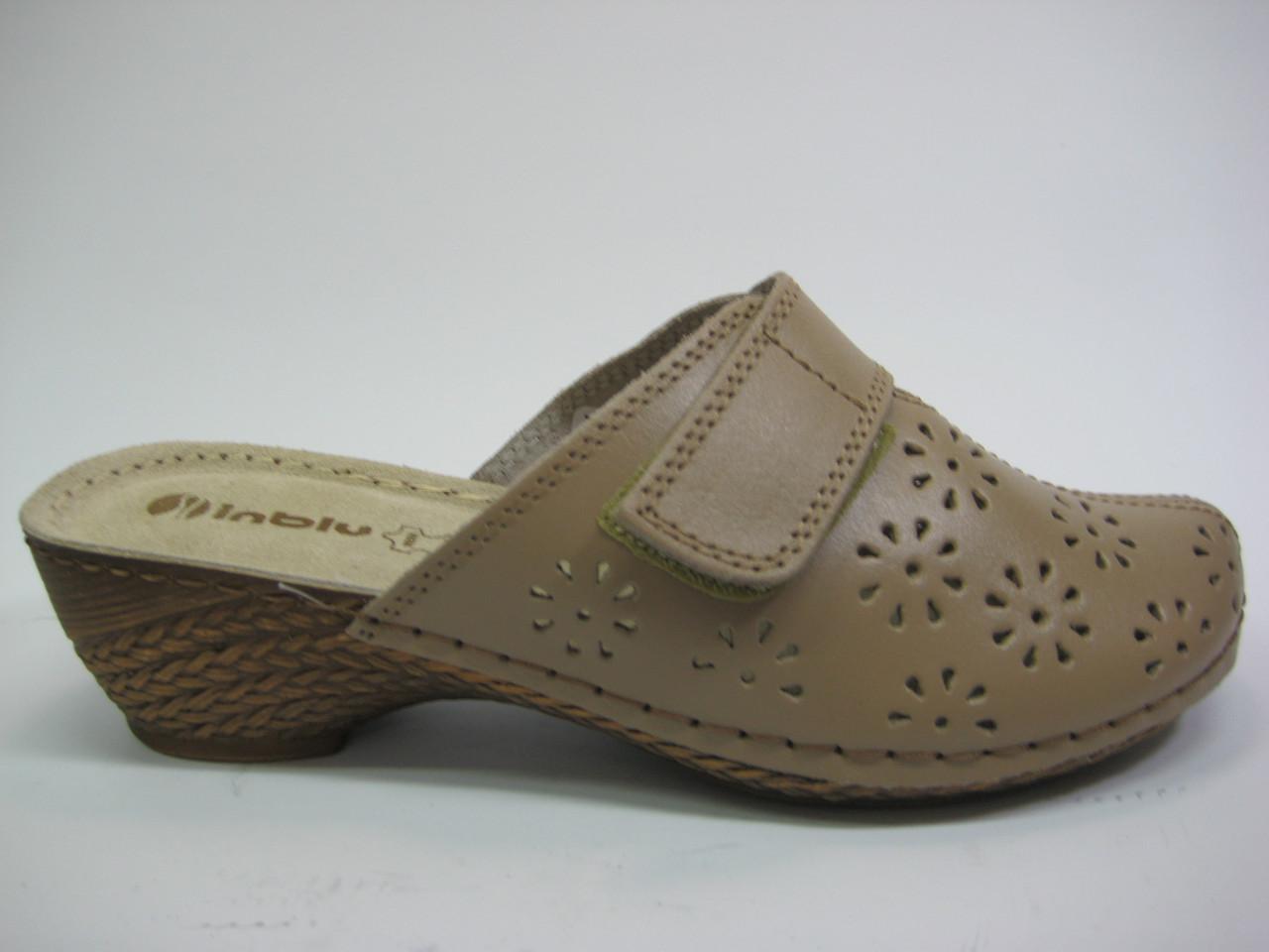Женские кожаные сабо ТМ Inblu, фото 1