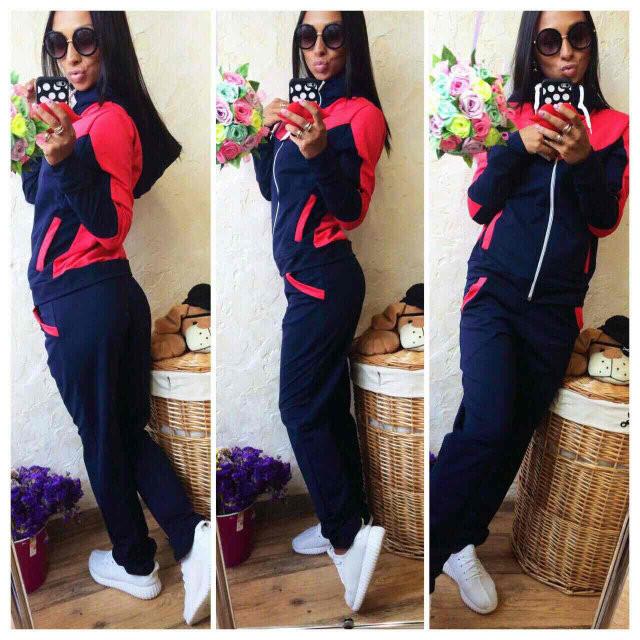 Спортивный костюм женский Леон темно-синий , спортивная одежда - Интернет -  магазин MaxTrade в d95cf234d3a