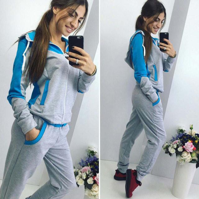 Спортивный костюм женский Леон серый , спортивная одежда - Интернет -  магазин MaxTrade в Днепре 0d384608ef9