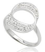 Кольцо TN258.Серебро 925 с кристаллами Swarovski. Размер 17