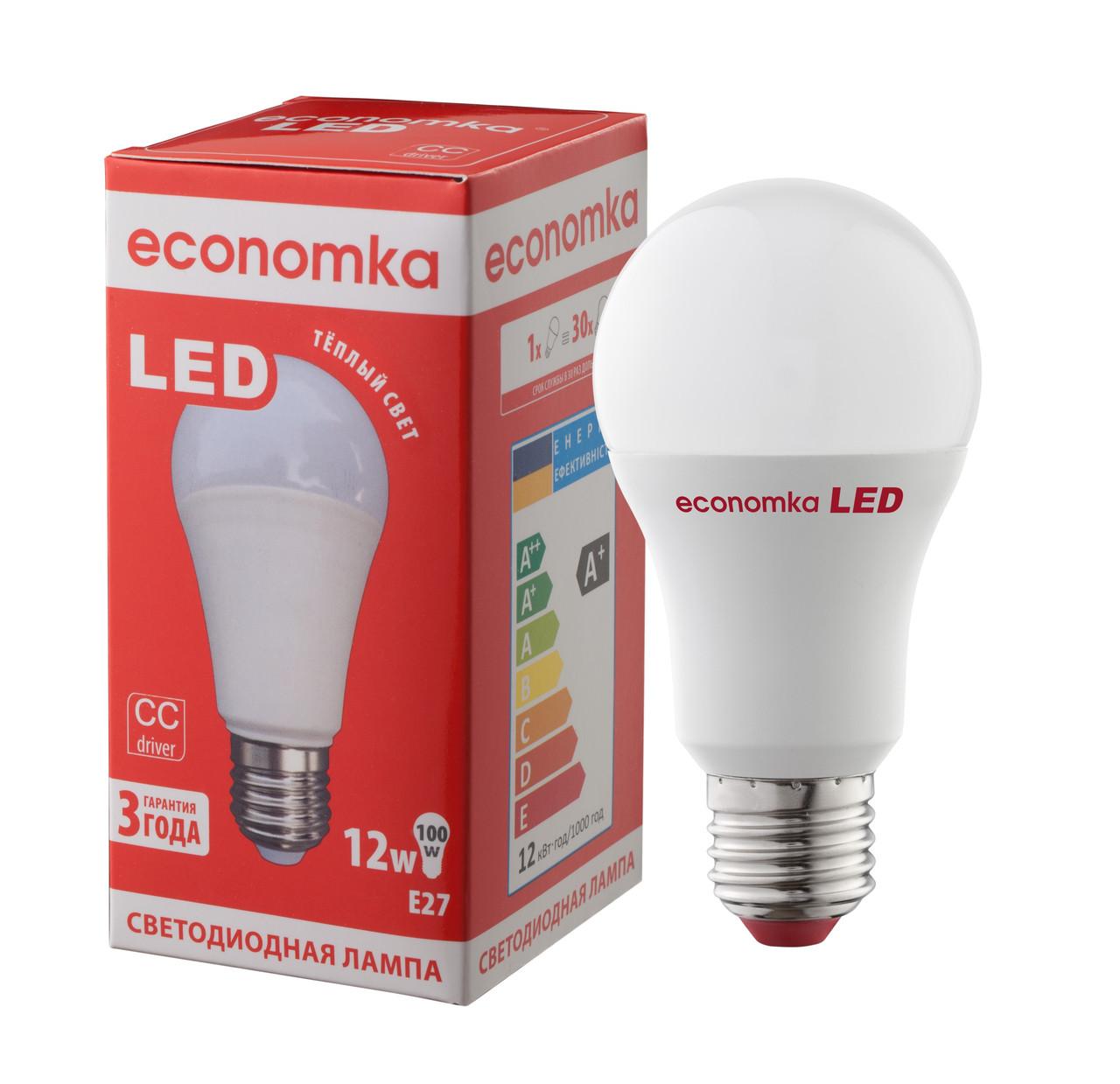 Светодиодная лампа Economka LED 12W Е27-2800К