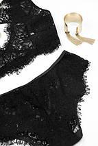Гипюровый комплект нижнего белья черный, фото 3
