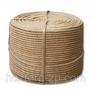 Верёвка (канат) джутовая  крученая д.8мм