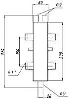 """Гидрострелка ГС-25.80-01 1"""""""