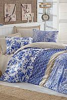 Качественное Двуспальное постельное белье Eponj Home ARVALES MAVI SV10