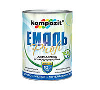 Эмаль акриловая 3л (белый) PROFI Kompozit®