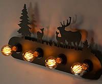 Настенный светильник, 4 лампы