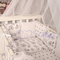 Комплект постельного белья для детской кроватки Baby Design велосипеды