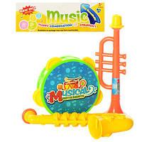 Музыкальные инструменты 33-22  бубен, дудка 2шт, в кульке, 21-26-4см