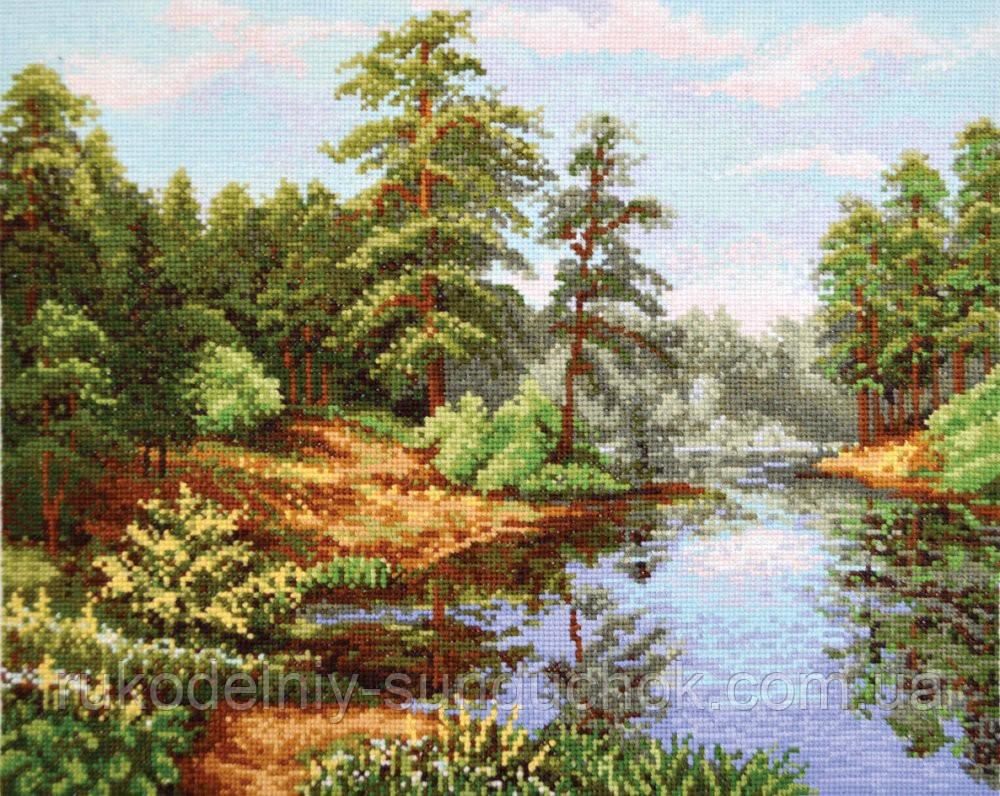 """Набор для вышивания крестом ТМ """"Повітруля"""" Лесной пейзаж П5 016"""