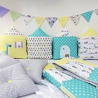 Бортики в кроватку и постельные комплекты для новорожденных