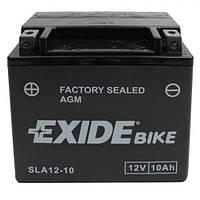 EXIDE SLA12-10 / AGM12-10 Мото аккумулятор 10 Aч, 150 A, (+/-), 150x87x130 мм