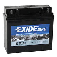 EXIDE SLA12-18 / AGM12-18 Мото аккумулятор 18 А/ч, 250 А, 181х77х167 мм