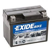 EXIDE SLA12-4 Мото аккумулятор 3 А/ч, 50 А, (-/+), 113х70х85 мм